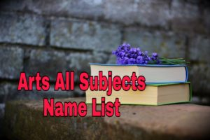 arts all subjects name list